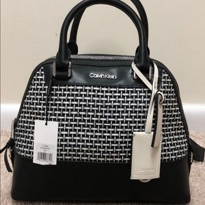 Brand new Calvin Klein leather black and white bag